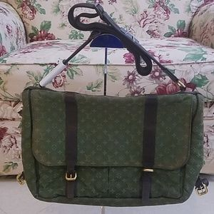 Preowned Green Mini Lin Louis Vuitton Diaper Bag